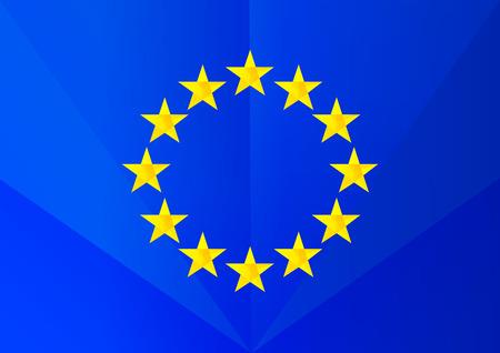 facet: Facet european flag Illustration