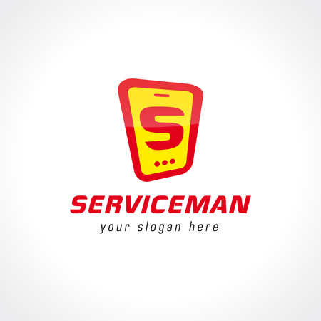 Logo for the service center. Business sign.