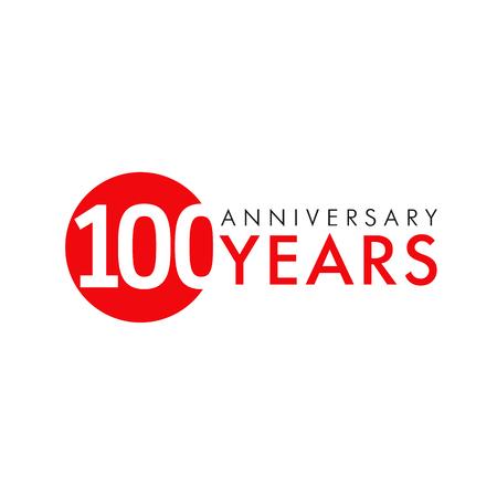 100 年周年記念ロゴ  イラスト・ベクター素材