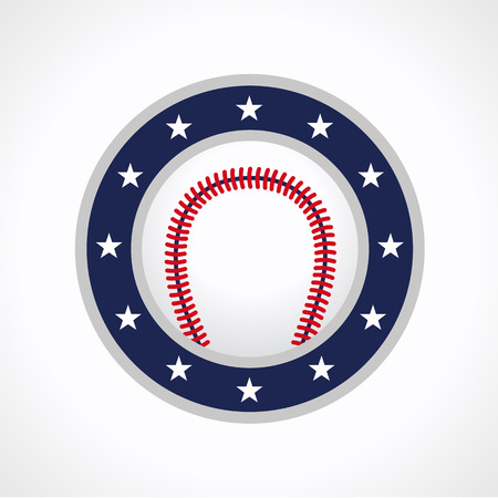 Baseball vector logo. Branding symbol of teams, national competitions, union, matches, leagues or sport equipment shop. Childrens schools, kids sport clubs or juniors tour icon.