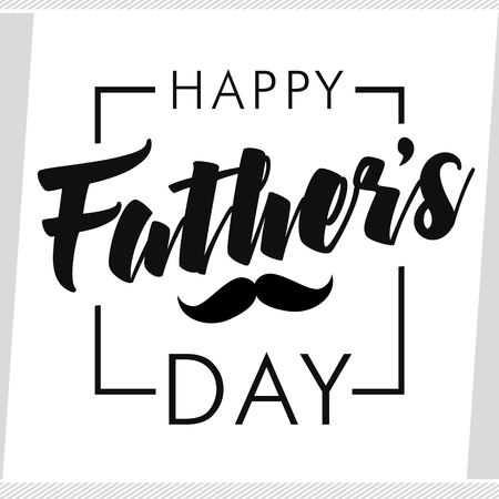 Happy fathers day greeting card happy fathers day vector lettering happy fathers day greeting card happy fathers day vector lettering background stock vector 77759209 m4hsunfo