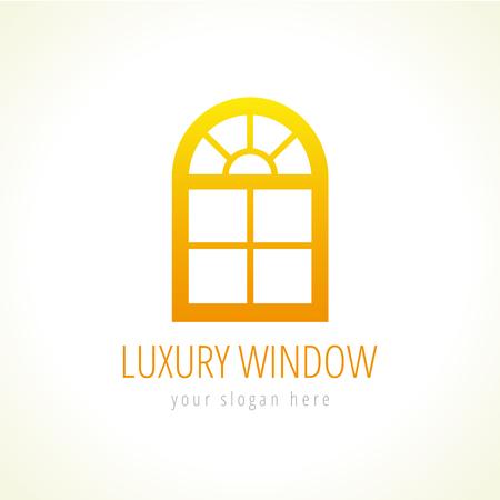Windows Eco Vector Logo. Template Icon Of Constructing Architectural ...