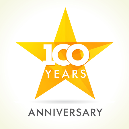 100 years old celebrating star logo