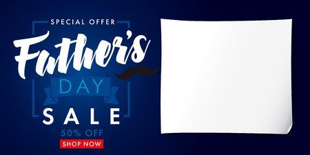 Father`s Day special offer SALE banner. Special offer