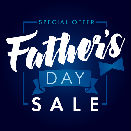 Father Day special offer SALE banner navy blue. Special offer