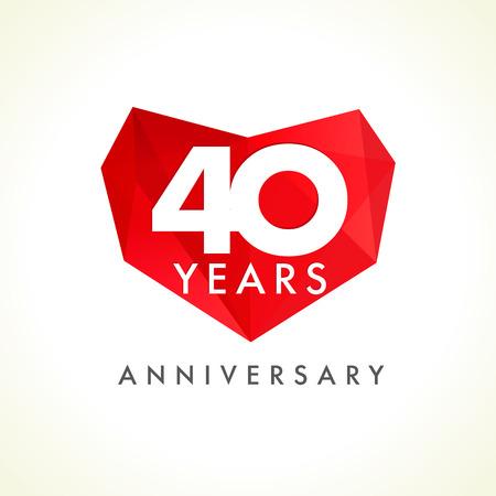 Conosciuto 40 Anni Di Lusso Logo. Anniversario Anno Di 40 ° Vettore Oro  NW92