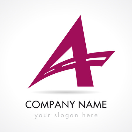 A letter logotype. Car traveling, logistics, voyage, typography, auction, trucking. Editable branding template elements. E-map software or smartphone app