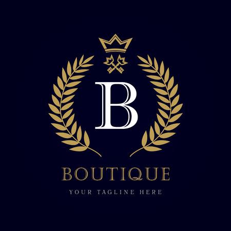 Luxury Boutique Crown Key Letter \