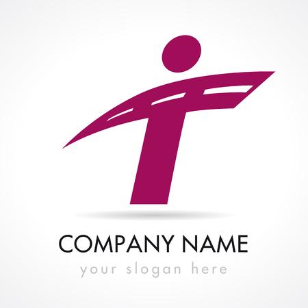 T letter logotype.