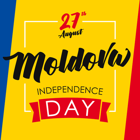Moldova independence day greeting card.