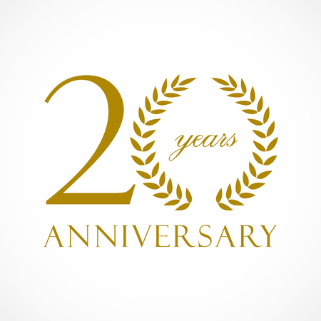 20 years anniversary icon design. Иллюстрация