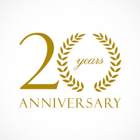 Conception d'icône de 20 ans anniversaire. Banque d'images - 88317990