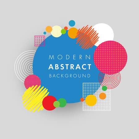 applicable: Abstract circle geometric colored futuristic design. Applicable for placard, brochure, poster, cover, presentation, report and banner. Vector illustration