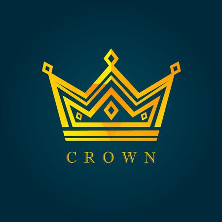 König Krone Facettensymbol. Vektor der Luxusfacette. Papa mein König Illustration Vektorgrafik