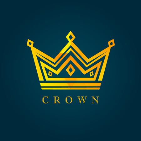 King crown facet icon. Vector of luxury facet. Dad my king illustration 矢量图片