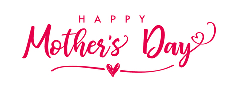Calligraphy vector text background for Mother's Day. Best mom ever greeting card