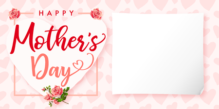 happy mother s day lettering invitations card for the mother s