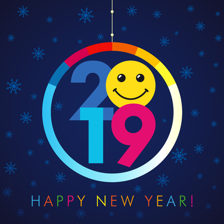 happy new year 2019 card template vector illustration stock vector 98606677