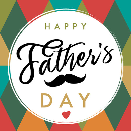 Happy father`s day elegant lettering banner. Happy Fathers Day vector calligraphy for design greeting cards. Dad my king illustration