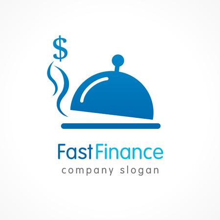 Simple symbol Fast finance logo. Modern credit loan or investment. Vector illustration Logo