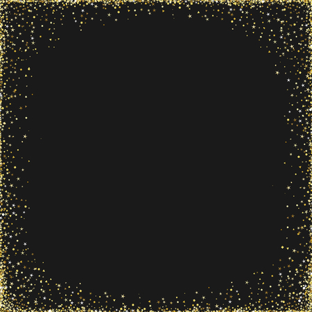Congrats on dark black background. Festival decorative glowing shiny rectangle design Discount metallic confetti center