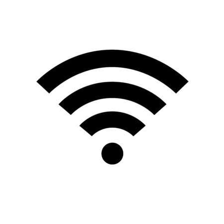 Wifi vector flat icon, sign. Free WiFi black color network symbol for public