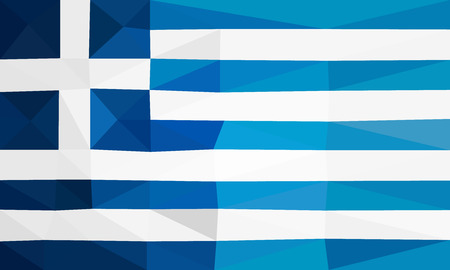 polly: Greece low polly flag Illustration