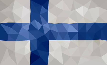 finland: Finland high poly flag
