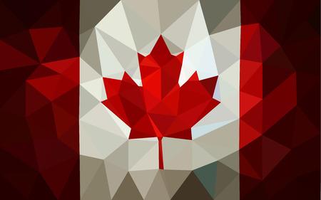 Canada low poly triangulate flag