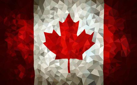 hight: Canada hight poly triangulate flag