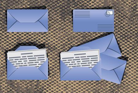 envelopes: The set of 4 envelopes Illustration