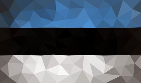 european economic community: Estonia high poly flag