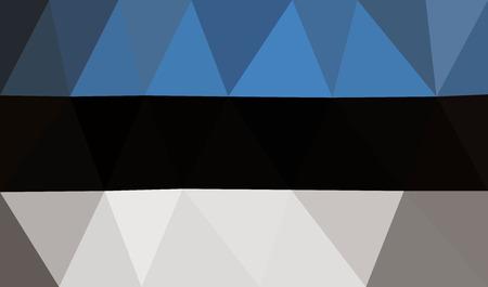 the european economic community: Estonia low poly flag Illustration