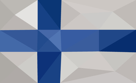 finland: Finland low poly flag