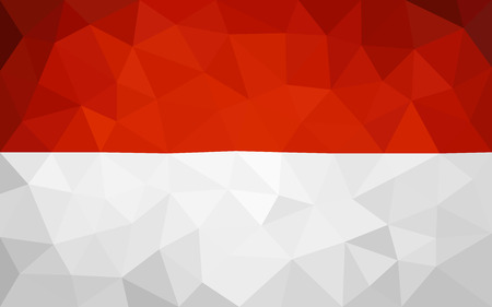 indonesian: Indonesian high poly flag Illustration