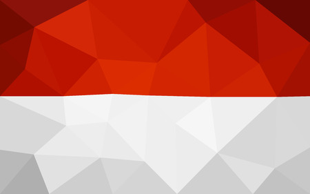 indonesian: Indonesian low poly flag