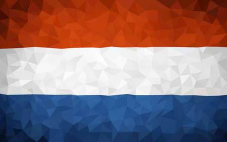 holland flag: Triangulated Holland flag (high poly)