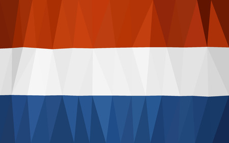 holland flag: Triangulated Holland flag (low poly) Illustration