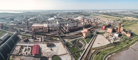 production of potash fertilizers in Soligorsk, shooting from above