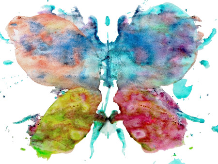 Watercolor butterfly illustration illustration