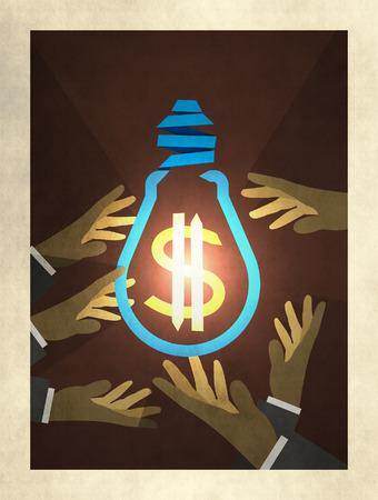 Illustration of aspects of business development illustration