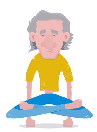 Yogi man standing on his arms Stock Vector - 29647221