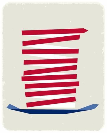 uncle sam: Uncle Sam hat Illustration