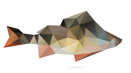 Polygon abstract illustration of the perch