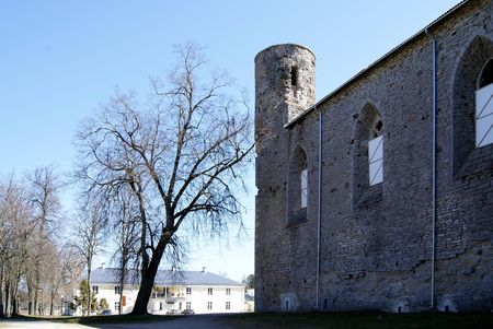 Ruinen einer Burg Lizenzfreie Bilder