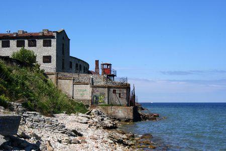 Prison and sea Lizenzfreie Bilder