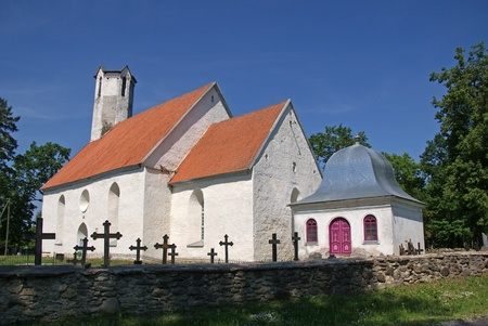 Estonia Vaike-Maarja. Church of the defensive type, 14 century