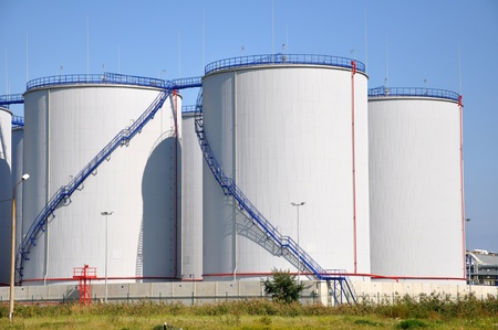 Greater white fuel tanks on a background of the blue sky Stock Photo - 10382177