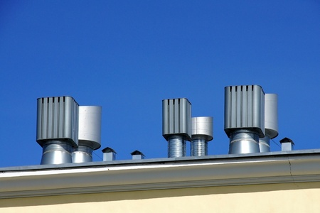 vents: The stream of fresh air acts from a roof