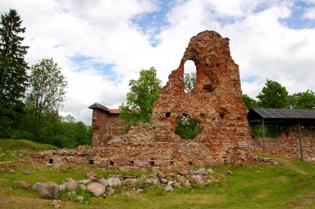 Estonia Viljandi  Ruins of a castle   13 century